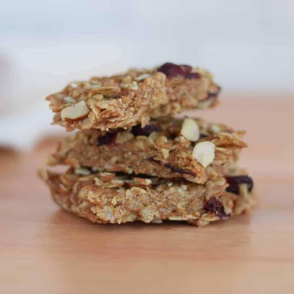 stack of 3 granola bars