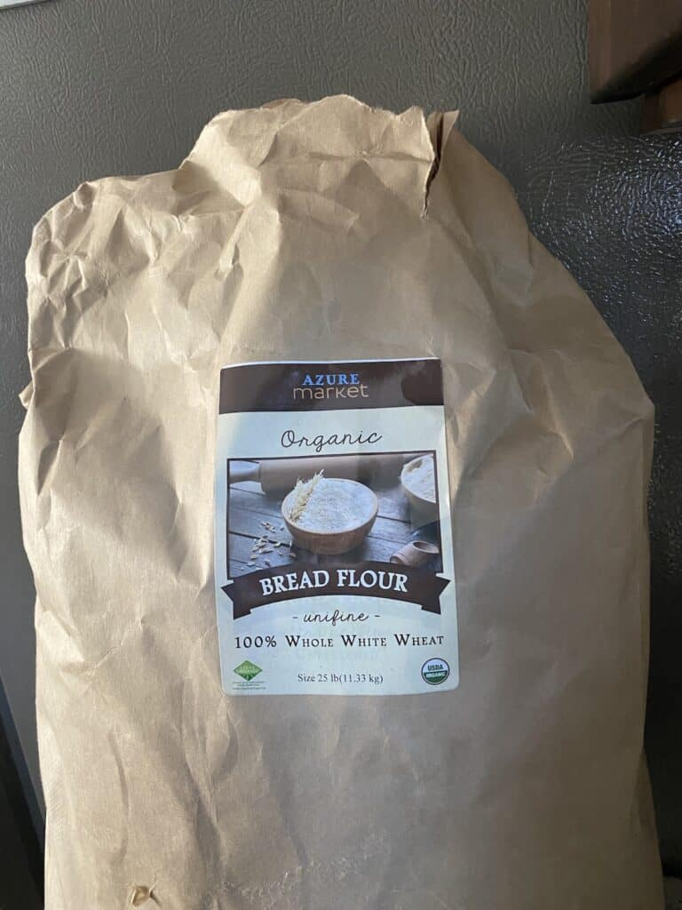 25 pound bulk bag of flour