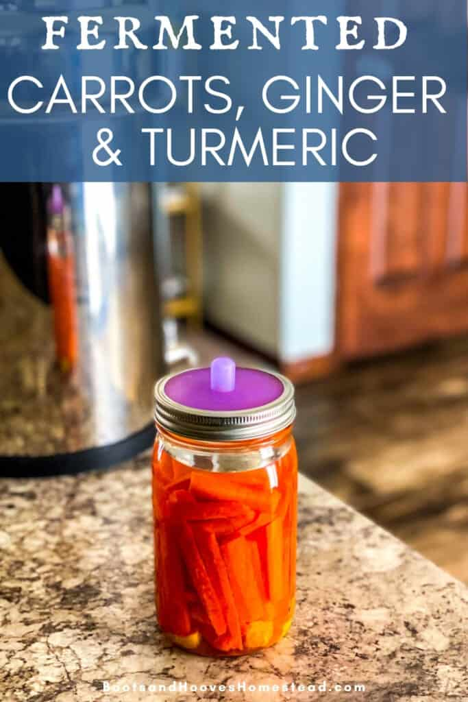 mason jar of ferments on kitchen counter