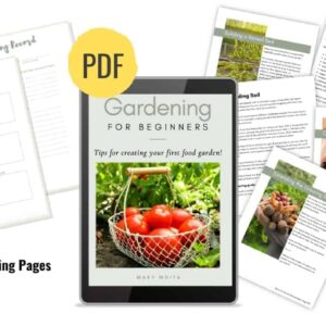 reader with garden ebook pages spread out