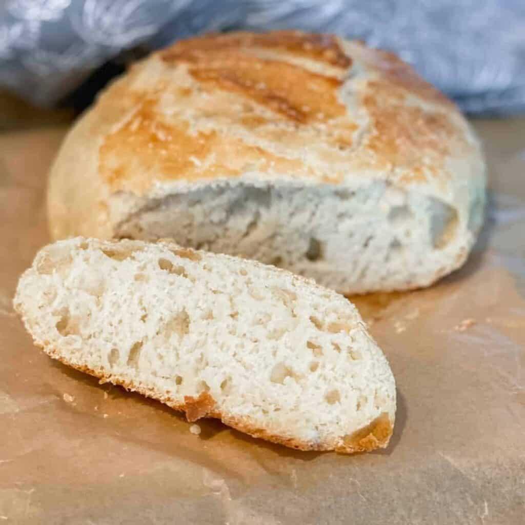 artisan loaf bread sliced