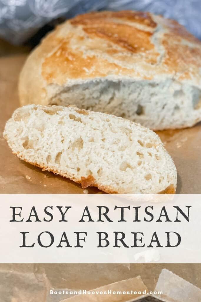 sliced artisan loaf bread