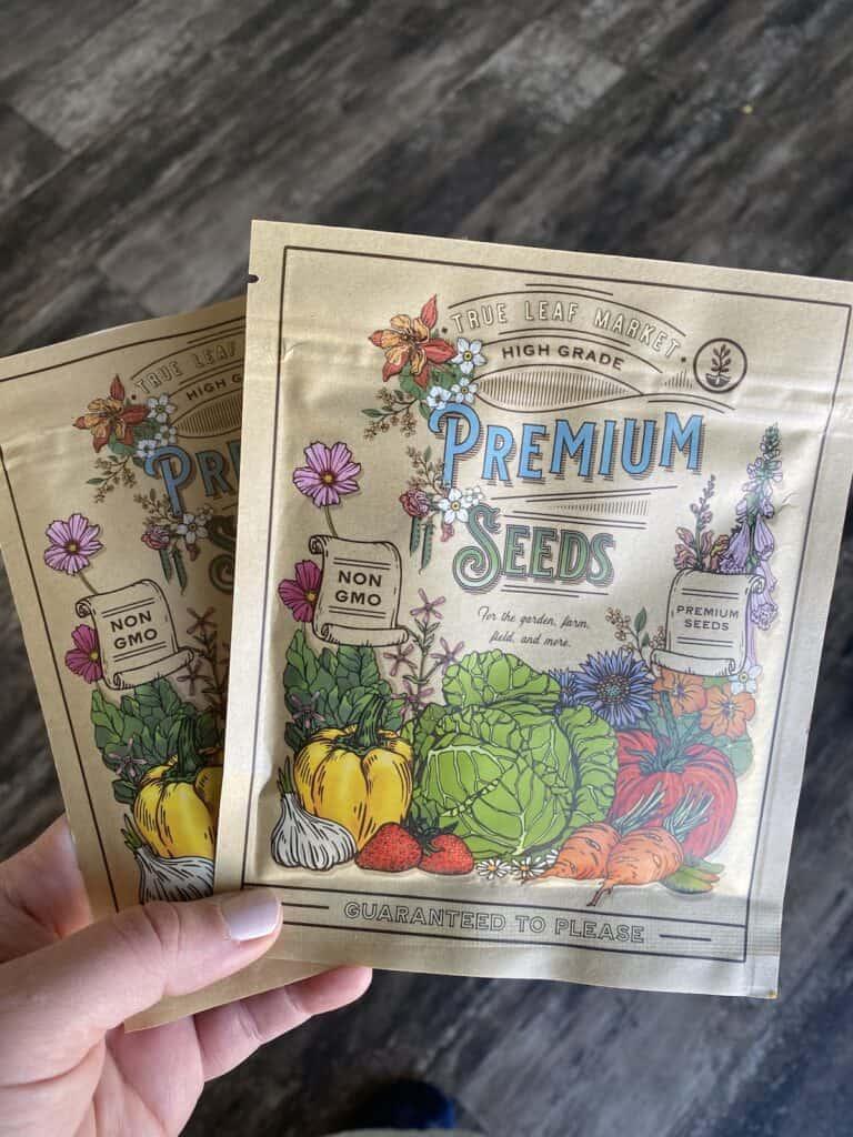 microgreen seeds in beautiful packaging form True Leaf Market