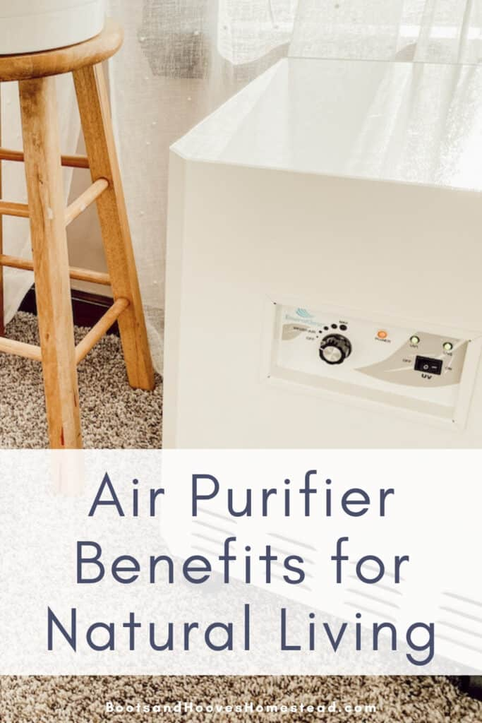air purifier next to a stool in the bedroom