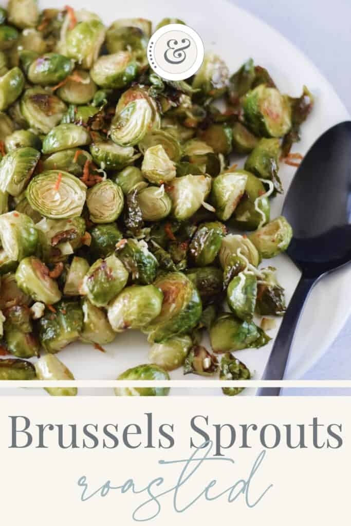 finished Brussels sprouts recipe on a platter
